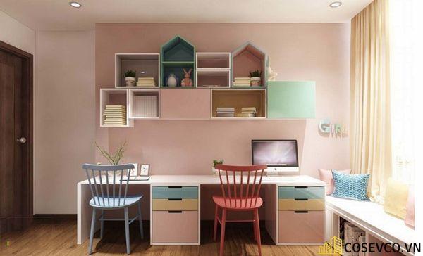 Thiết kế phù hợp với gia đình có 2 bé cùng học tập trong một không gian, đặc biệt là gia đình có bé sinh đôi - M3