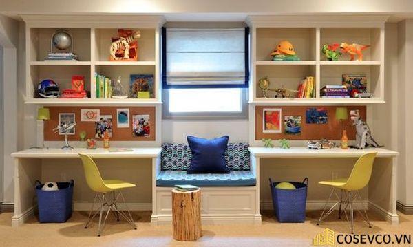 Thiết kế phù hợp với gia đình có 2 bé cùng học tập trong một không gian, đặc biệt là gia đình có bé sinh đôi - M4