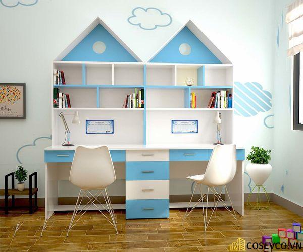Thiết kế phù hợp với gia đình có 2 bé cùng học tập trong một không gian, đặc biệt là gia đình có bé sinh đôi - M5