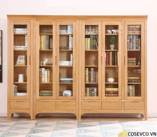 Giá sách có tủ hiện đại - Mẫu 2