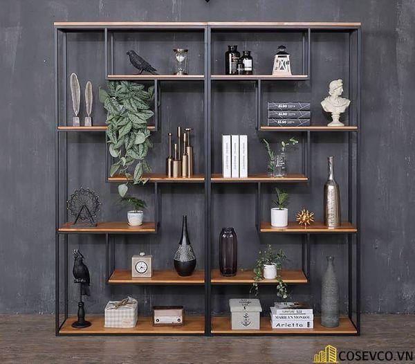 Tủ sách đẹp bằng khung sắt - Mẫu 3