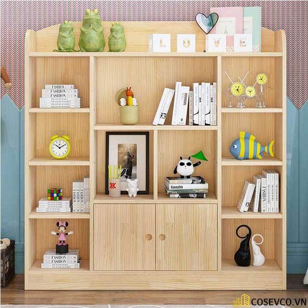 Giá sách đẹp bằng gỗ - Mẫu 1