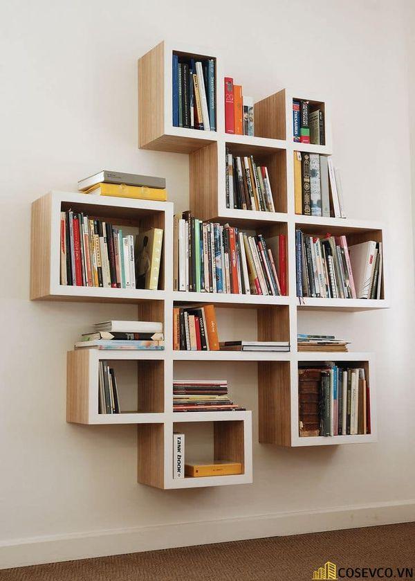 Mẫu giá sách đẹp đơn giản