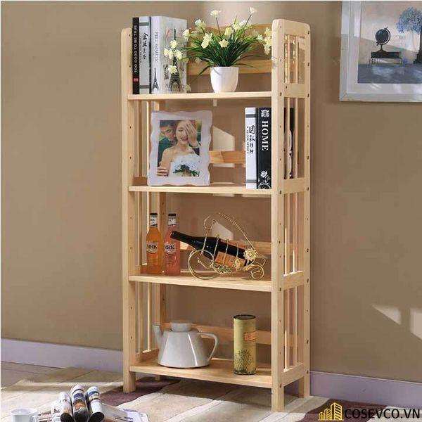 Giá sách đẹp bằng gỗ - Mẫu 3