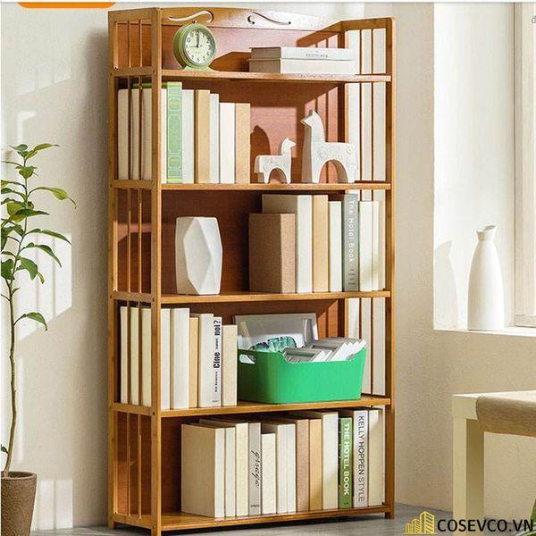 Giá sách đẹp bằng gỗ - Mẫu 5