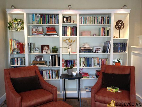 Tủ sách đẹp có kính - Mẫu 2