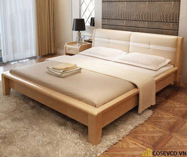 Giường ngủ gỗ sồi trắng luôn làm hài lòng cho tất cả khách hàng - Mẫu 1