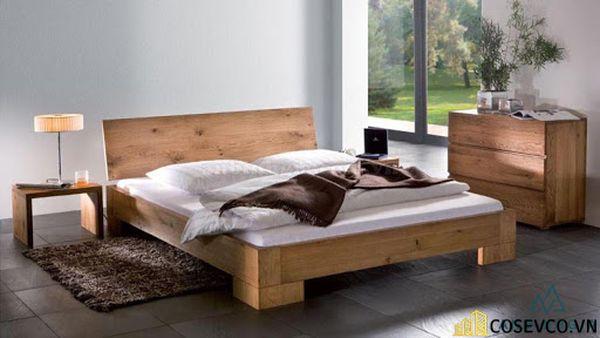 Giường ngủ gỗ sồi trắng luôn làm hài lòng cho tất cả khách hàng - Mẫu 4