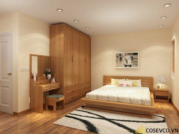 Mẫu giường gỗ sồi nga đẹp ấn tượng nhất hiện nay - Mẫu 6
