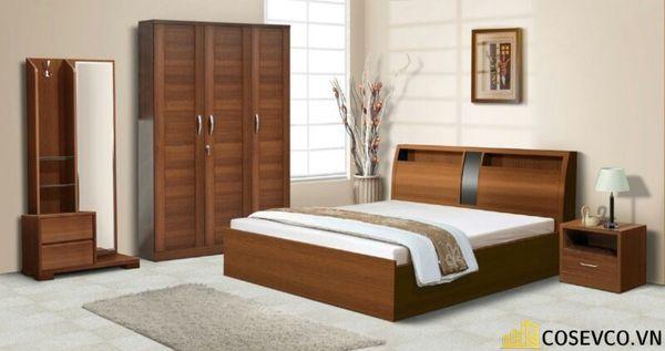 Mẫu giường gỗ sồi nga đẹp ấn tượng nhất hiện nay - Mẫu 5