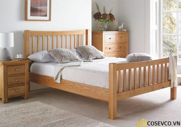 Mẫu giường gỗ sồi nga đẹp ấn tượng nhất hiện nay - Mẫu 4