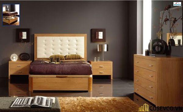 Mẫu giường gỗ sồi nga đẹp ấn tượng nhất hiện nay - Mẫu 3