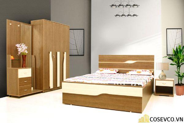 Mẫu giường gỗ sồi nga đẹp ấn tượng nhất hiện nay - Mẫu 2