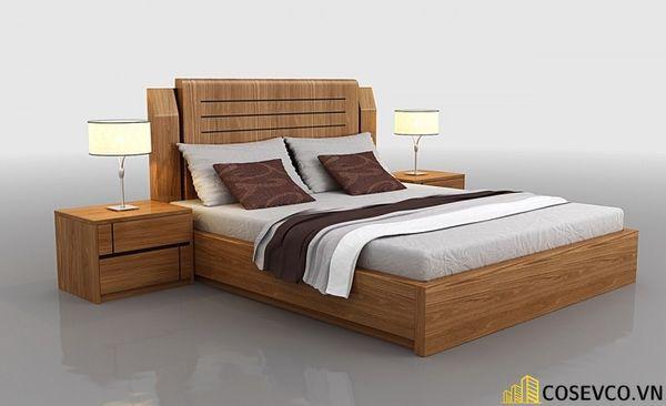 Những mẫu giường gỗ sồi Mỹ đẹp bền có thiết kế đa năng - Mẫu 6