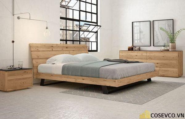 Những mẫu giường gỗ sồi Mỹ đẹp bền có thiết kế đa năng - Mẫu 5