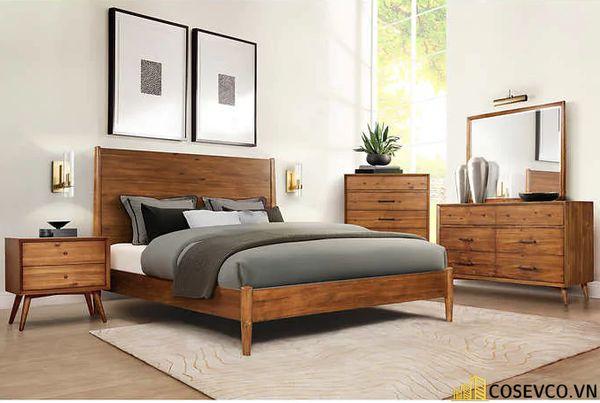 Những mẫu giường gỗ sồi Mỹ đẹp bền có thiết kế đa năng - Mẫu 7