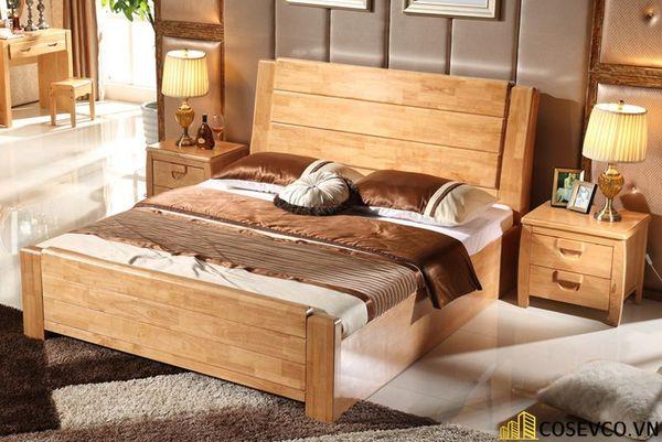 Những mẫu giường gỗ sồi Mỹ đẹp bền có thiết kế đa năng - Mẫu 4