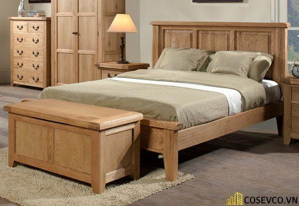 Giường ngủ gỗ sồi trắng luôn làm hài lòng cho tất cả khách hàng - Mẫu 3