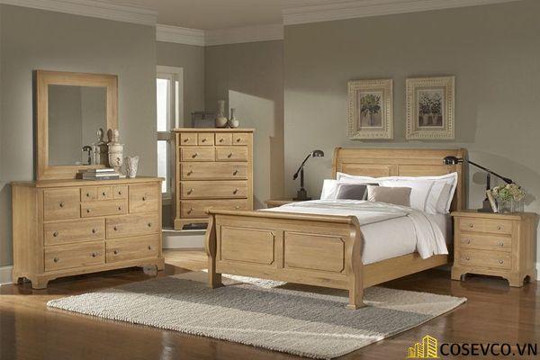 Mẫu giường gỗ sồi hội tụ tất cả những ưu điểm tối ưu nhất cho không gian gia chủ - Mẫu 1