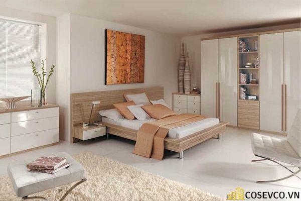 Mẫu giường gỗ sồi hội tụ tất cả những ưu điểm tối ưu nhất cho không gian gia chủ - Mẫu 2
