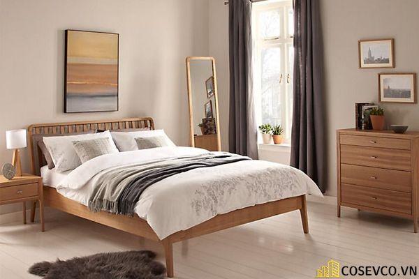 Mẫu giường gỗ sồi hội tụ tất cả những ưu điểm tối ưu nhất cho không gian gia chủ - Mẫu 3
