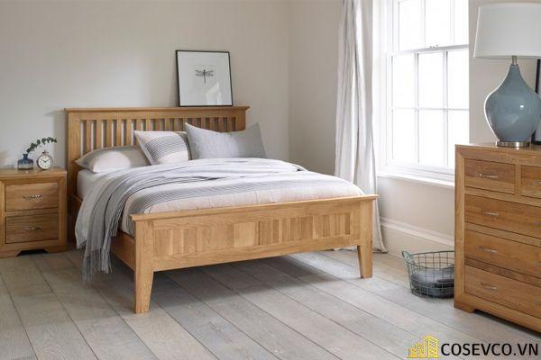 Mẫu giường gỗ sồi hội tụ tất cả những ưu điểm tối ưu nhất cho không gian gia chủ - Mẫu 4