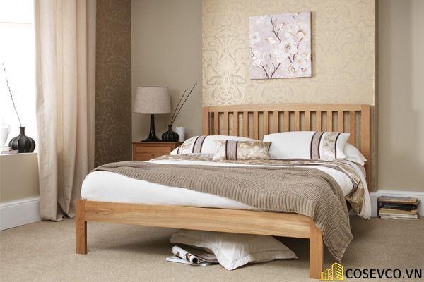Mẫu giường gỗ sồi hội tụ tất cả những ưu điểm tối ưu nhất cho không gian gia chủ - Mẫu 5