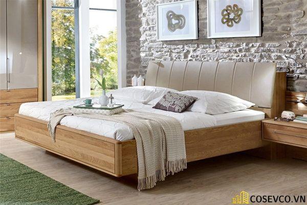 Mẫu giường gỗ sồi hội tụ tất cả những ưu điểm tối ưu nhất cho không gian gia chủ - Mẫu 6