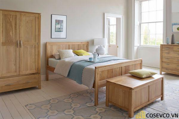 Giường ngủ gỗ sồi trắng luôn làm hài lòng cho tất cả khách hàng - Mẫu 2