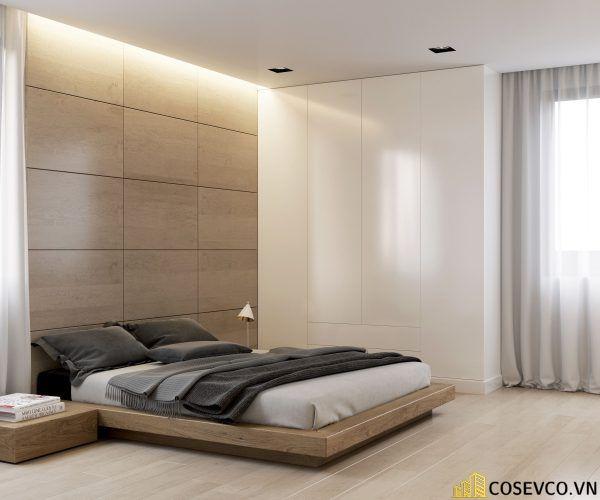 Giường ngủ gỗ sồi kiểu Nhật - M4