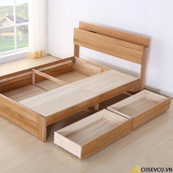 Giường ngủ bằng gỗ sồi phù hợp cho phòng ngủ của gia đình - M9