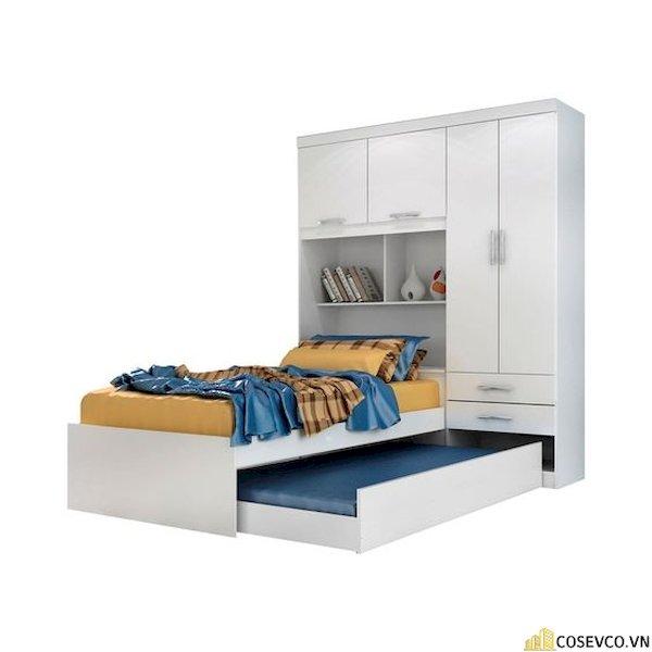 Giường ngủ có ngăn kéo để đệm - Hình ảnh 2
