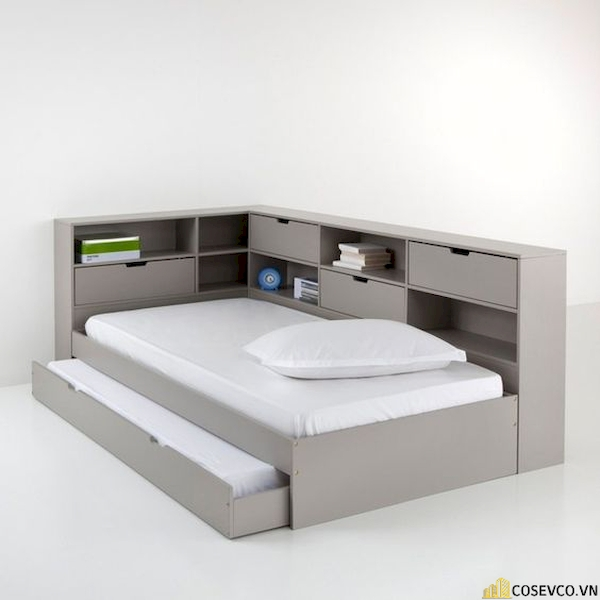 Giường ngủ có ngăn kéo để đệm - Hình ảnh 3