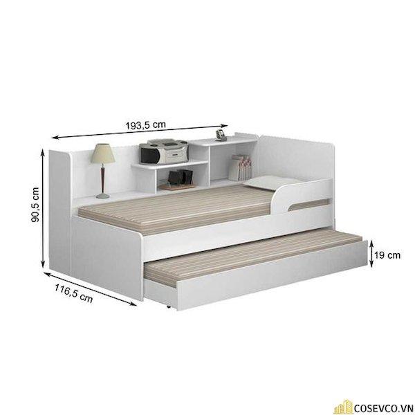 Giường ngủ có ngăn kéo để đệm - Hình ảnh 6
