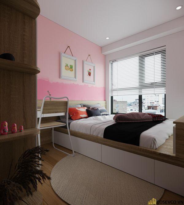 Đối với phòng ngủ cho bé thì chất liệu MDF là lựa chọn tốt nhất, vừa tạo không gian trẻ trung vừa tiết kiệm chi phí - View 2