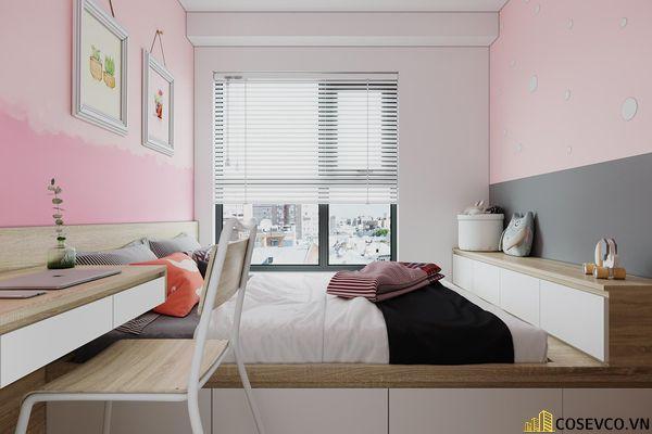 Đối với phòng ngủ cho bé thì chất liệu MDF là lựa chọn tốt nhất, vừa tạo không gian trẻ trung vừa tiết kiệm chi phí - View 3