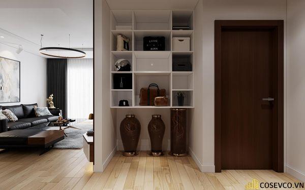 Nội thất phòng khách được sử dụng vật liệu gỗ MDF chống ẩm tạo không gian hiện đại trẻ trung và cực kỳ sang trọng - View 4