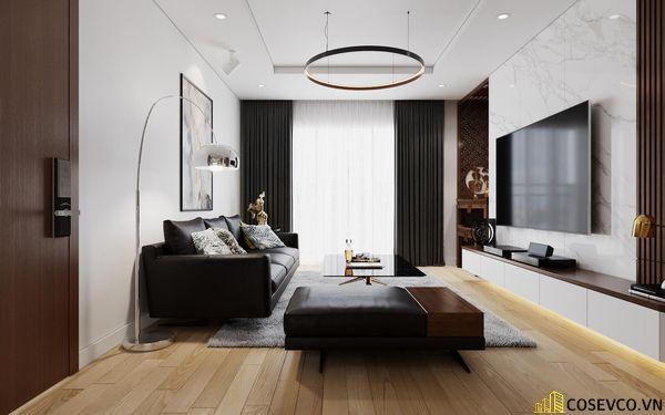 Nội thất phòng khách được sử dụng vật liệu gỗ MDF chống ẩm tạo không gian hiện đại trẻ trung và cực kỳ sang trọng - View 5
