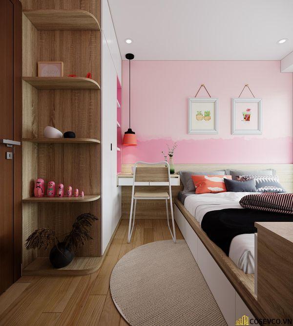 Đối với phòng ngủ cho bé thì chất liệu MDF là lựa chọn tốt nhất, vừa tạo không gian trẻ trung vừa tiết kiệm chi phí - View 6