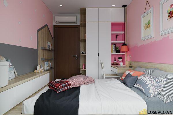 Đối với phòng ngủ cho bé thì chất liệu MDF là lựa chọn tốt nhất, vừa tạo không gian trẻ trung vừa tiết kiệm chi phí - View 1