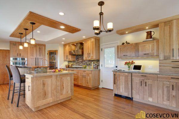 Ứng dụng gỗ sồi nga trong sản xuất tủ bếp