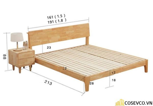 Kích thước giường đơn chuẩn