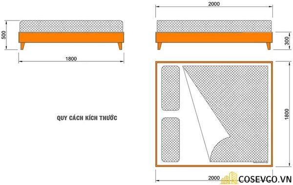 Kích thước giường đôi tiêu chuẩn