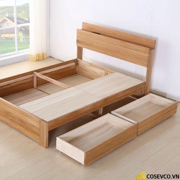 Mẫu giường ngủ đẹp thiết kế sang trọng - M14