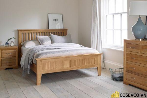 Mẫu giường ngủ đẹp thiết kế sang trọng - M10