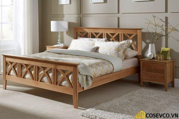 Mẫu giường ngủ đẹp thiết kế sang trọng - M6