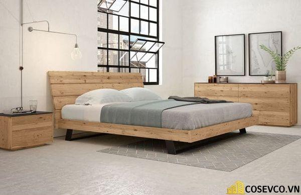 Mẫu giường ngủ đẹp thiết kế sang trọng - M2
