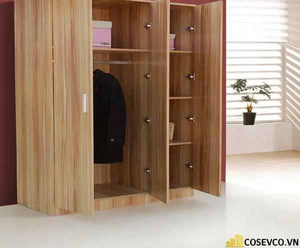Mẫu tủ quần áo 3 cánh đẹp đơn giản - H1