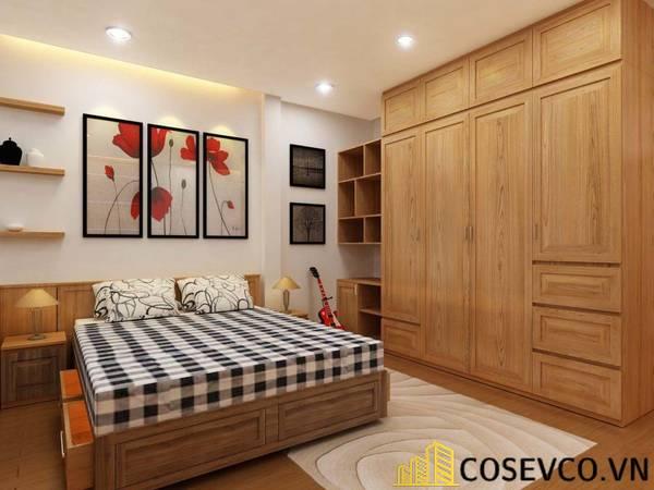 Giường gỗ sồi tân cổ điển - Mẫu 11