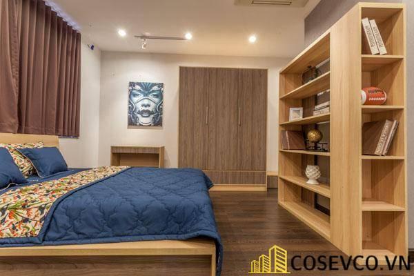 Giường gỗ sồi xuất khẩu - Mẫu 12